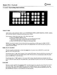 Football (FB-1) Console Operating Instructions - Colorado Time ...