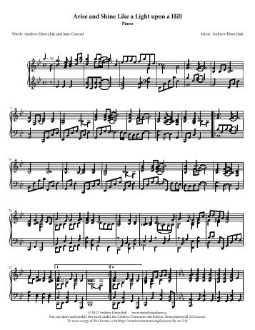 Piano part - Music by Andrew