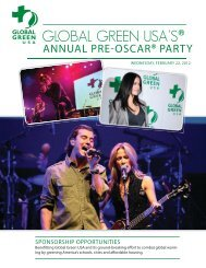 ANNUAL PRE OSCAR® PARTY - Global Green USA