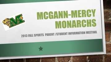 here. - McGann-Mercy High School