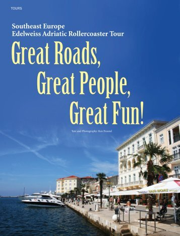 Southeast Europe Edelweiss Adriatic Rollercoaster Tour