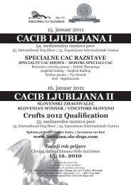 cacib ljubljana i cacib ljubljana ii - Kinološka Zveza Slovenije