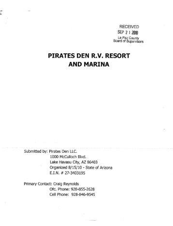 PIRATES DEN R.V. RESORT - La Paz County, Arizona