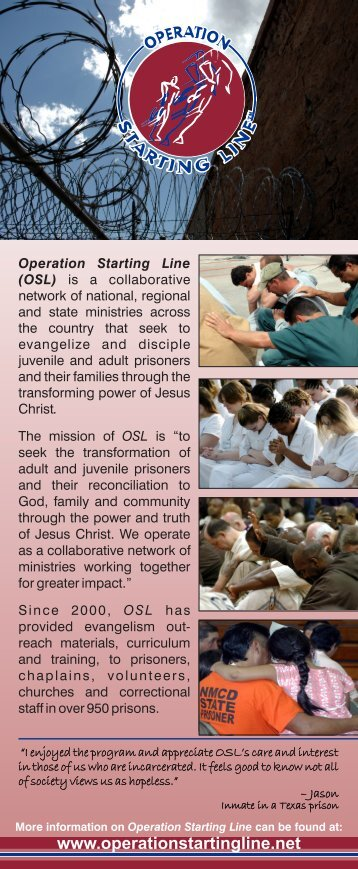 click here - Prison Fellowship