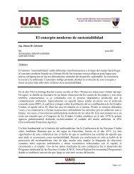 El concepto moderno de sustentabilidad - Sustentabilidad.uai.edu.ar