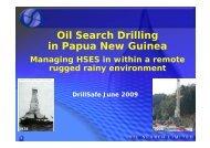 Oil Search Drilling in Papua New Guinea - DrillSafe