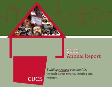 CUCS 2010 Annual Report - Center for Urban Community Services
