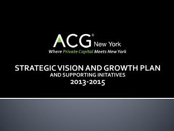 STRATEGIC DIRECTION - Association for Corporate Growth