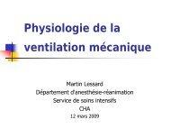 Physiologie de la ventilation mécanique