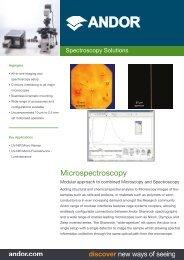 Microspectroscopy Flyer - Andor Technology
