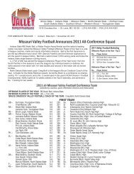 2011 All-Conference (PDF) - Missouri Valley Conference