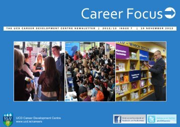 this week's edition of Career Focus. - Career Development Centre