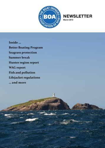 March 2013 - The Boat Owners' Association of NSW