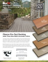 Fiberon Pro-Tect Decking - Huttig Building Products