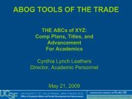 Comp Plans, Titles, and Advancement For ... - Academic Affairs