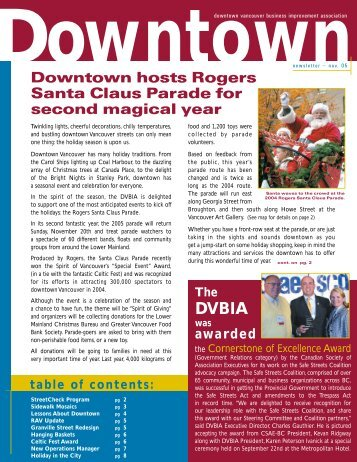 NOV newsletter F/A new - Downtown Vancouver Business ...