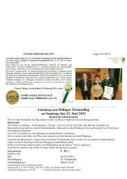 Einladung zum Södinger Ortsausflug am Samstag, den 23. Juni 2012