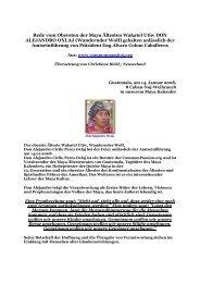 Rede vom Obersten der Maya Ältesten Wakatel Utiw ... - Indalosia
