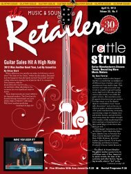 April, 2013 - Music & Sound Retailer