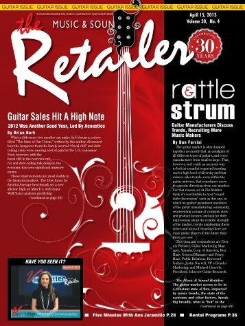 April, 2013 - Music & Sound Retailer