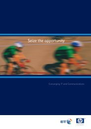 Seize the opportunity - BT.com