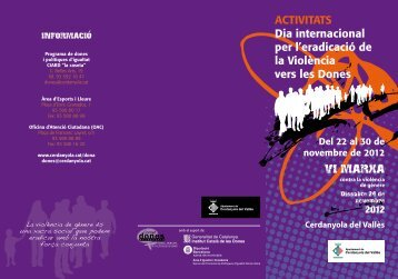ACTIVITATS Dia internacional per l'eradicació de la Violència vers ...