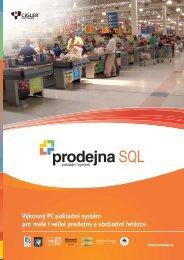 Prodejna SQL Datasheet - Cígler software, a.s.