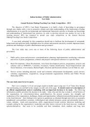 Annual Decision Making/Teaching Case Study Competition – 2013