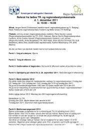 Referat fra Regionsbestyrelsesmøde den 1. december 2011