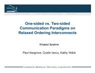 One-sided vs. Two-sided Communication Paradigms on Relaxed ...