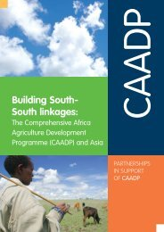 Building South- South linkages: - CAADP