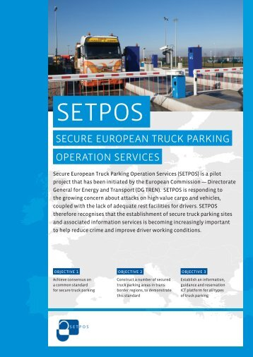 Secure European Truck Parking Operation Services - SETPOS