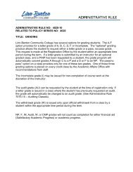 Administrative Rule 4020-10 - LBCC Paperless Office - Linn-Benton ...