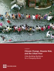 Climate Change, Disaster Risk, and the Urban Poor - World Bank ...