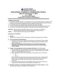 DRAFT EPCC MINUTES FOR 3/13/03 - Santa Rosa Junior College