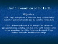 Unit 5: Formation of the Earth - Ann Arbor Earth Science