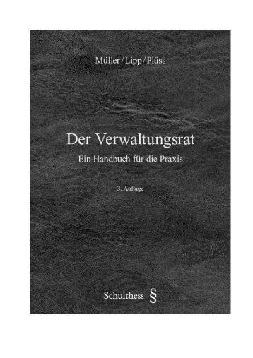 Der Verwaltungsrat - Müller Eckstein Rechtsanwälte