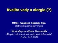 Kvalita vody a alergie (?)