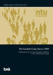 The Swedish Crime Survey 2009 - Brottsförebyggande rådet