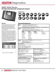 HMG 3000 Series - HYDAC USA
