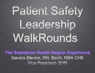 The Saskatoon Healt Sandra Blevins, RN Vice Presid Sandra ...