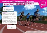 Badminton - Alternate Hits athletics - continuous relay - School Games