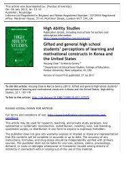 perceptions of learning and motivational constructs in Korea and the