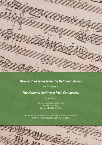 Musical Treasures from the National Library The National Archive of ...