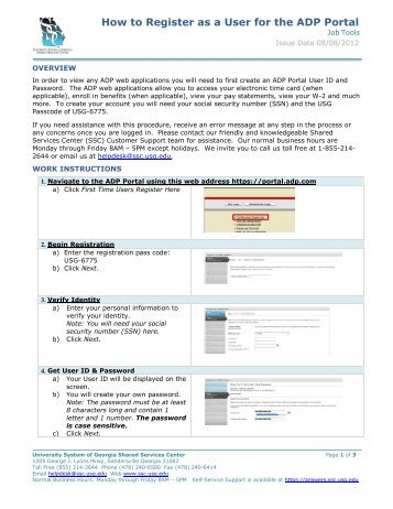 How to Register as a User for the ADP Portal