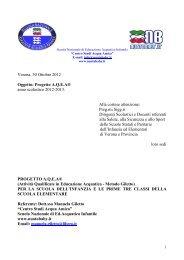 Progetto AQEA - MIUR – USR Veneto