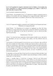 Loi n° 6-79 organisant les rapports contractuels entre les bailleurs et ...