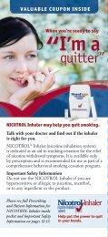 Nicotrol Patient Brochure - PfizerPro