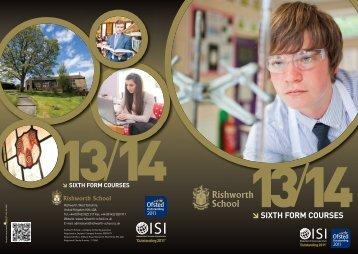 Sixth Form Courses Handbook - Rishworth School