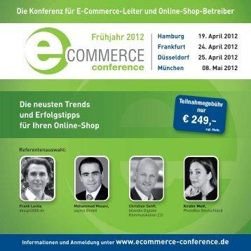 aktueller Programmflyer - Ecommerce Conference